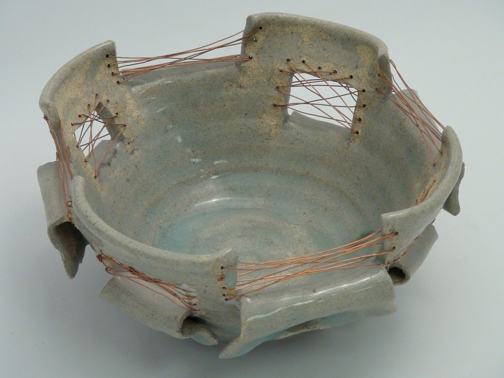 Copper and Ceramic Bowl