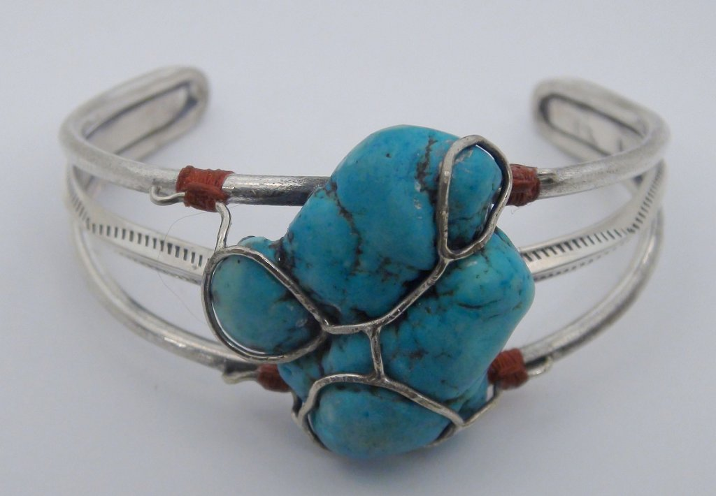 Fenced Turquoise Cuff