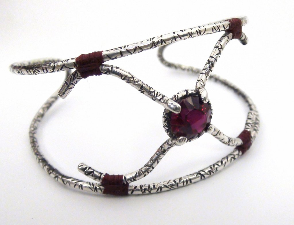 Faceted Rubelite Bracelet