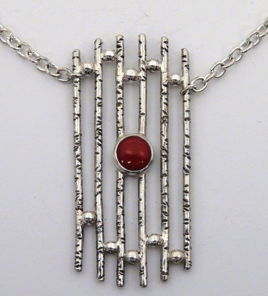 Red Stone Gate Pendant