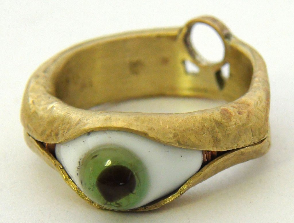 Brass Eye Ring
