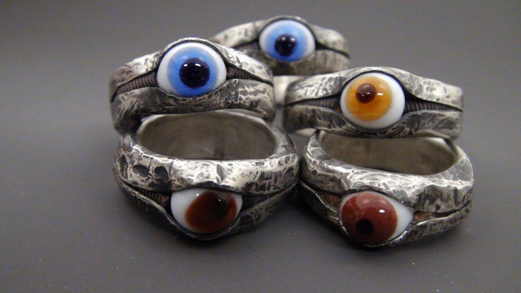 Silver Eye Rings